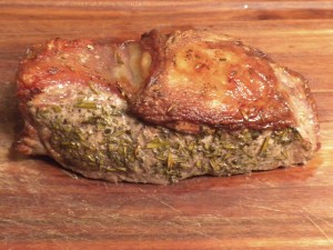 Strip Loin Roast with Double Herb Crust from Tender Grassfed Meat Cookbook
