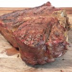 Tender grass-fed Porterhouse steak from Tender Grassfed Barbecue by Stanley A. Fishman
