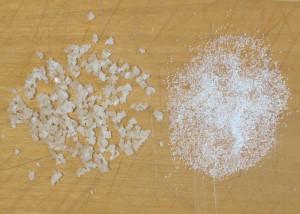 Natural Celtic Sea Salt and industrial factory salt