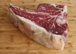 This dry-aged grassfed steak contains no soy toxins.