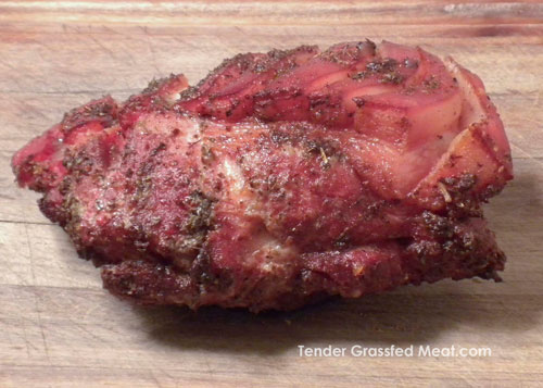 Mediterraean Pork Roast from Tender Grassfed Barbecue by Stanley Fishman