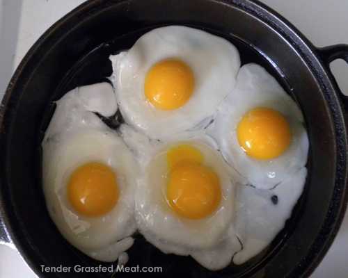 These pastured eggs with their deep orange yolks are a wonderful example of real food.