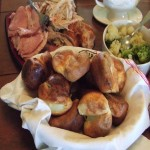 Thanksgiving Dinner: Ham, Turkey, and Yorkshire Pudding