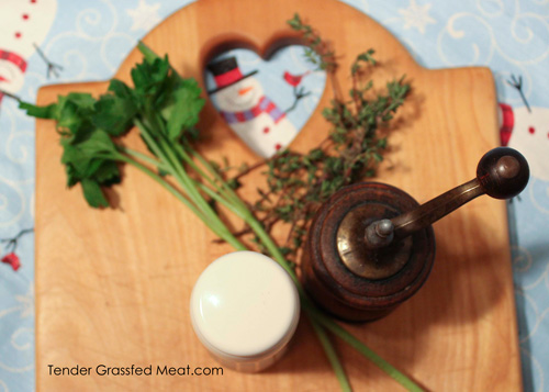 Simple spices like parsley, thyme, salt and pepper flavor a traditional Irish stew.