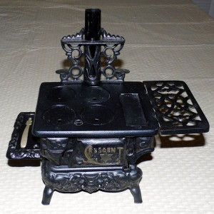 A traditional cast iron stove.