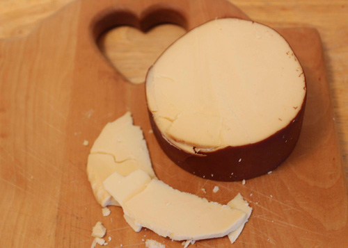 Traditional Gouda cheese is a good source of Vitamin K.
